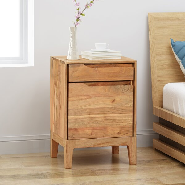 Farmersville Solid Wood End Table With Storage By Millwood Pines