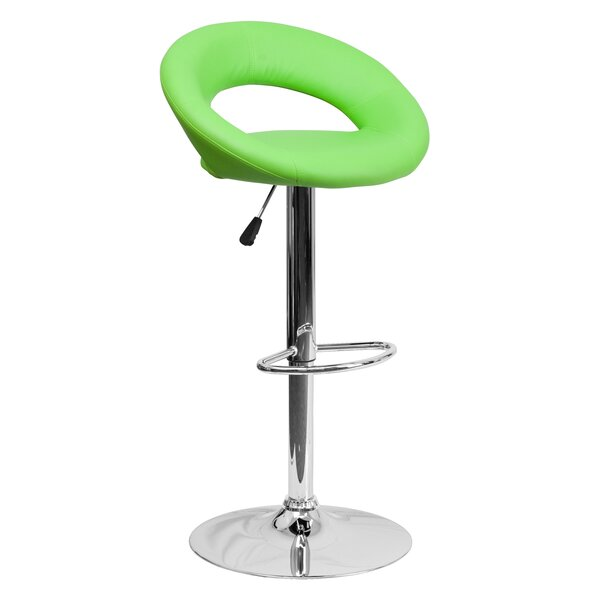 Peralta Adjustable Height Swivel Bar Stool by Wade