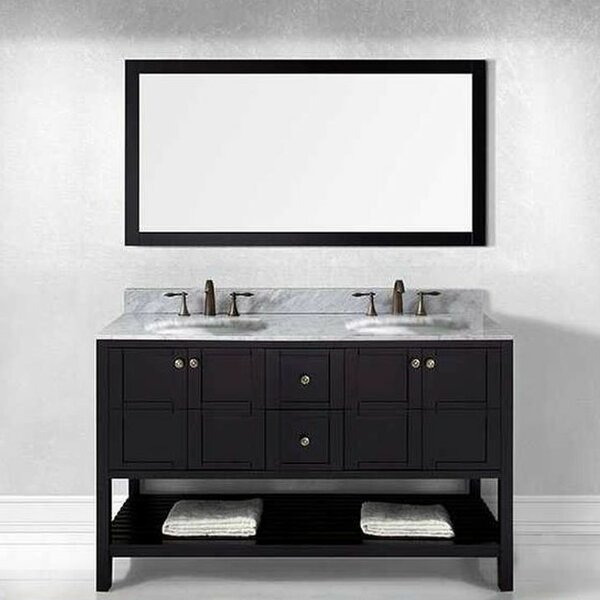 Bob 60 Double Bathroom Vanity Set by Willa Arlo In