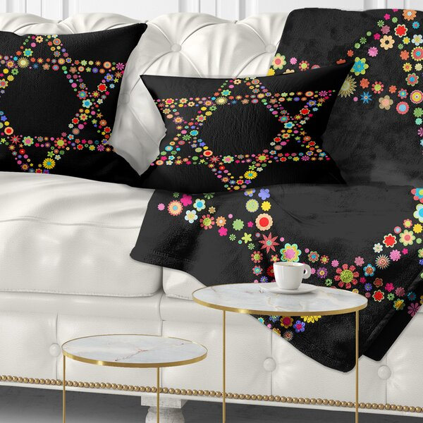 Abstract Star of David Shape Lumbar Pillow by East Urban Home