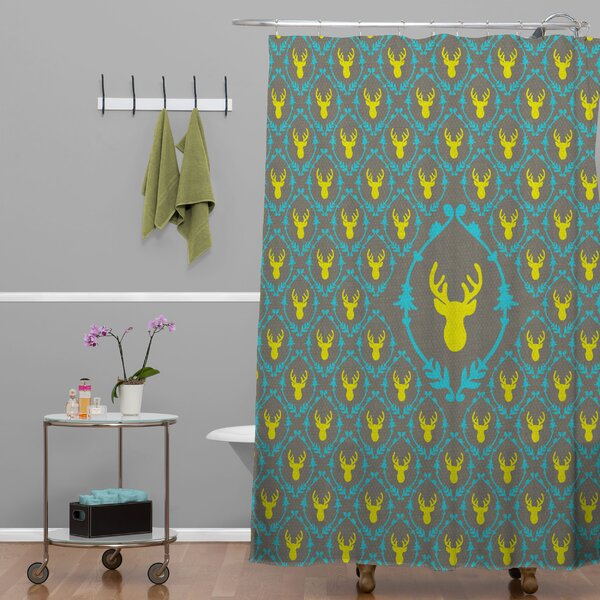 Bianca Green Oh Deer 3 Shower Curtain by Deny Designs