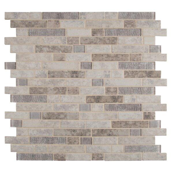 Zodia Random Sized Glass Mosaic Tile in Gray by MSI