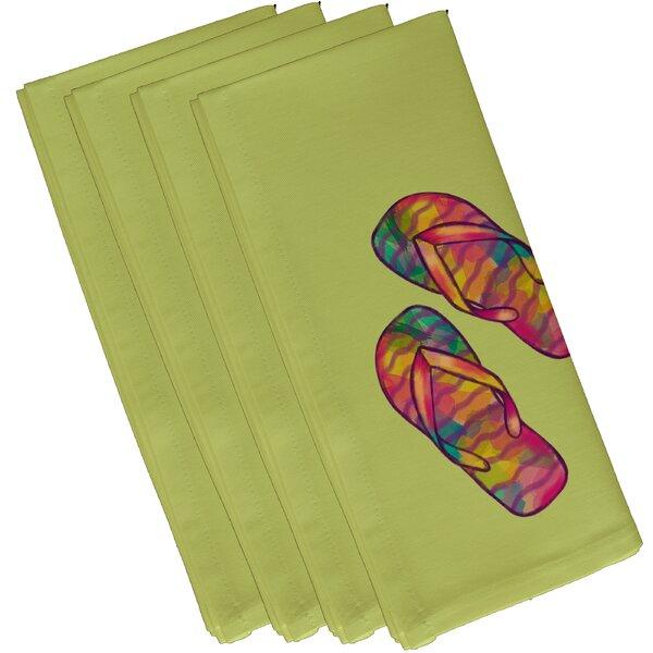 Donnington Rainbow Flip Flops Geometric Print 19