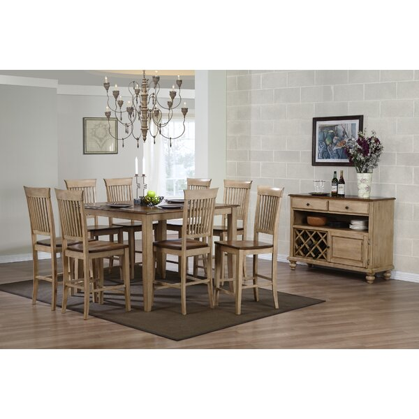 Huerfano Valley 9 Piece Adjustable Pub Table Set by Loon Peak