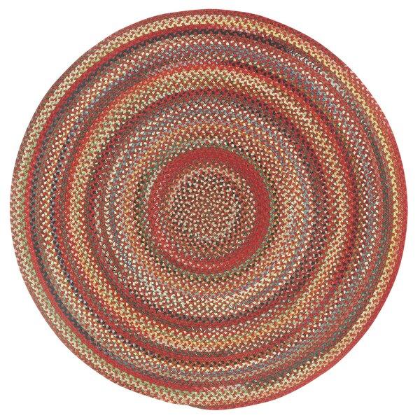 Omaha Handmade Braided Wool Red Rug