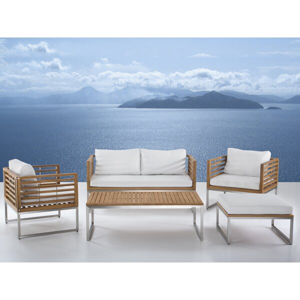 Marone Patio 5 Piece Conversation Set with Cushions by Orren Ellis