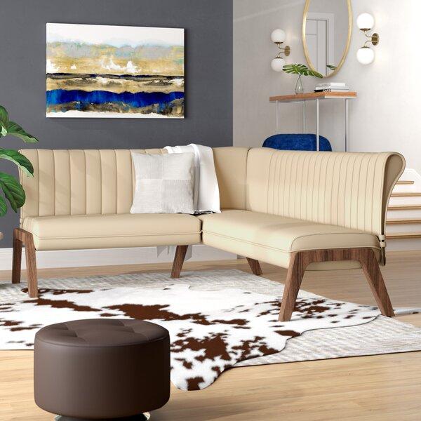 Kaysen Upholstered Corner Bench by Wade Logan Wade Logan