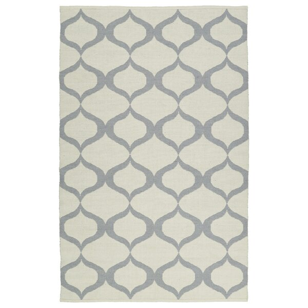 Dominic Hand-Tufted Cream/Gray Indoor/Outdoor Area Rug by Ebern Designs