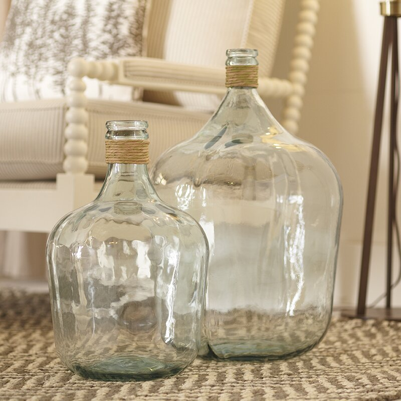 Large Glass Jugs. Shop Drew's Honeymoon House! {Kitchen & Dining Room} #PropertyBrothers