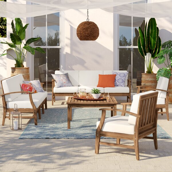 Antonia 5 Piece Sofa Seating Group with Cushions by Mistana