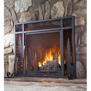 Monogram Fireplace Screen All Fireplace Accessories | Wayfair