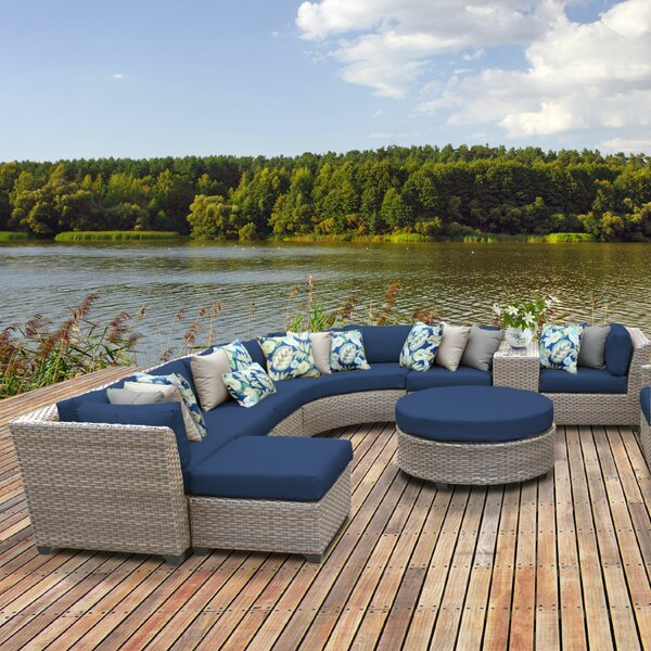 Meeks 12 Piece Sectional Seating Group with Cushions by Rosecliff Heights