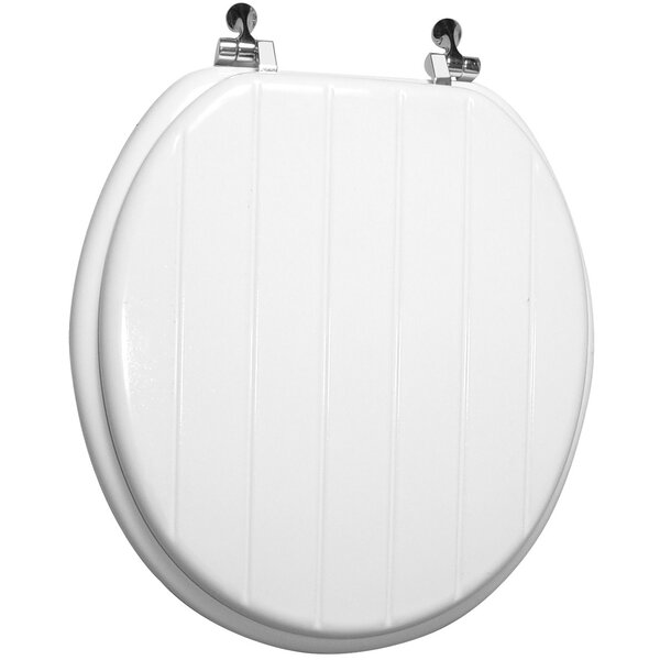 Engraved Wood Round Toilet Seat by Trimmer