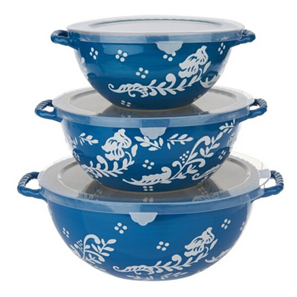 3 Piece Stoneware Mixing Bowl Set by Valerie Bertinelli