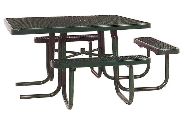 Char Log Picnic Table