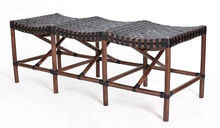 New Classics Malibu Leather Bench by Kenian