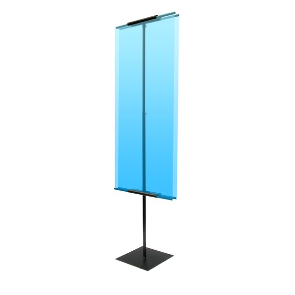 90 Vertical Double-Sided Banner Stand by Pinquist