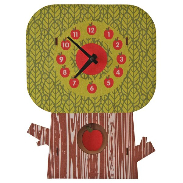 Apple Tree Pendulum Wall Clock by Modern Moose