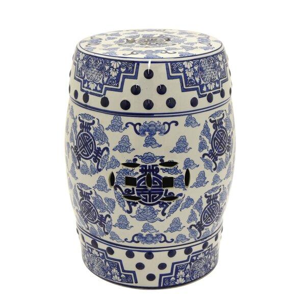 Malgosia Ceramic Garden stool by Bloomsbury Market