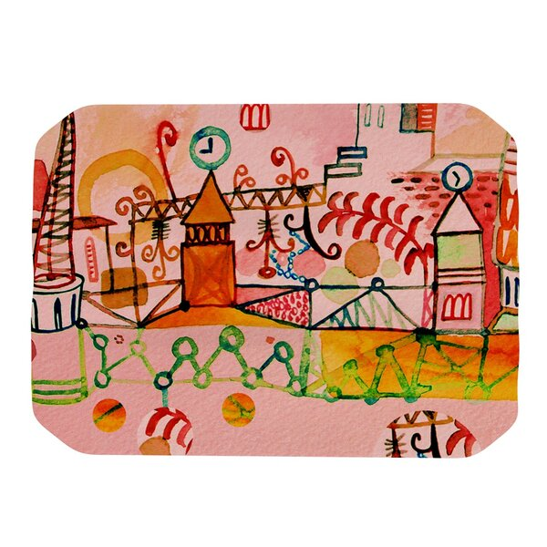Happy Town Placemat by KESS InHouse