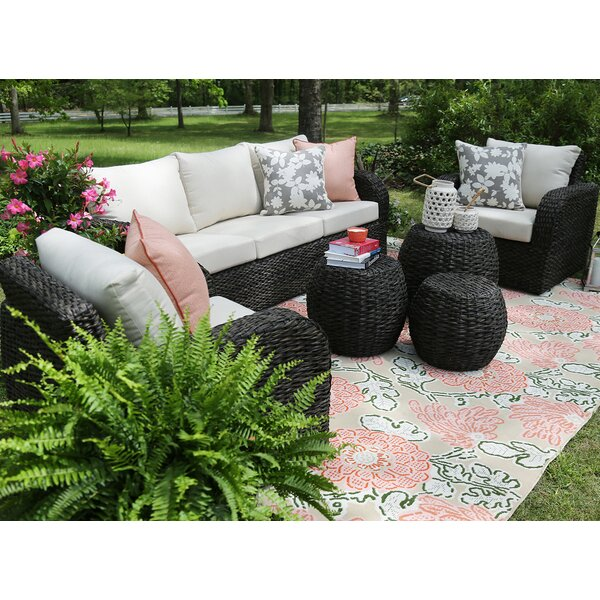 Cottleville 6 Piece Rattan Sofa Seating Group with Cushions by Bungalow Rose