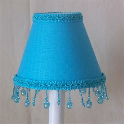 4 H Fabric Empire Candelabra shade ( Clip on ) in Blue