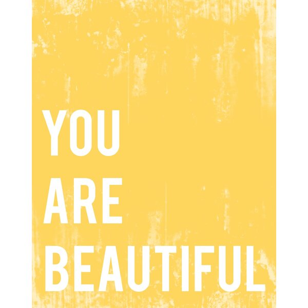 You Are Beautiful Paper Print by Children Inspire Design
