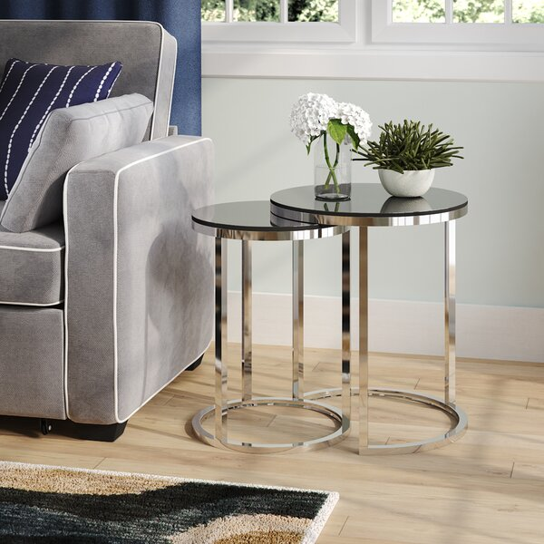 Porterfield 2 Piece Nesting Table By Wade Logan