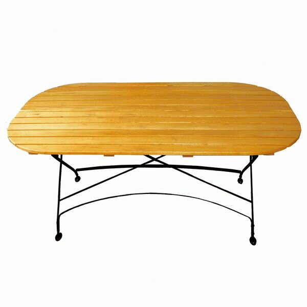Dowe Folding Oval Table by August Grove