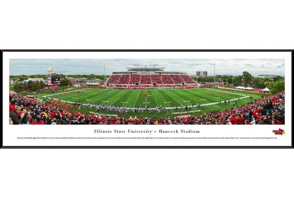 NCAA Illinois State U - Football by Robert Pettit Framed Photographic Print by Blakeway Worldwide Panoramas, Inc