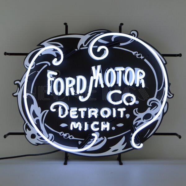Ford Motor Company 1903 Heritage Emblem Neon Wall