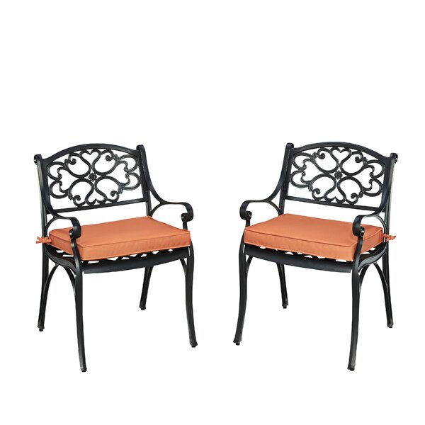 Ayleen Patio Dining Chair With Cushion (Set Of 2) By August Grove