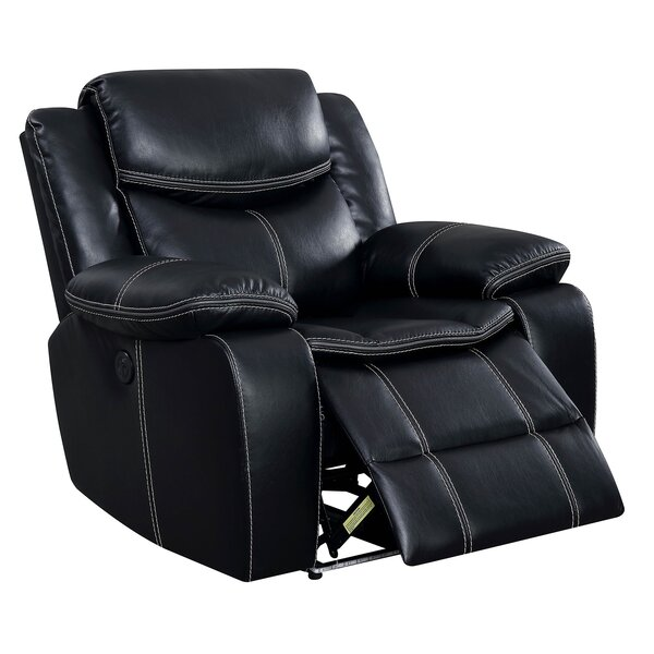 Moundville Holders and Storage Leather Power Recliner by Latitude Run