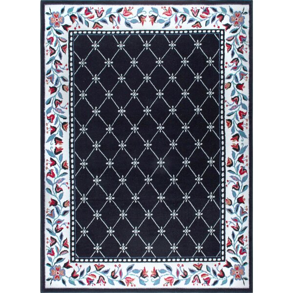 Modena Black Area Rug by Charlton Home