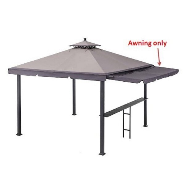 Double Roof Gazebo 10ft. W x 3ft. D Side Awning by Sunjoy