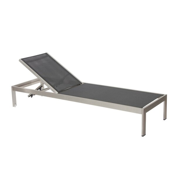 Laws Anodized Aluminum Reclining Chaise Lounge by Orren Ellis