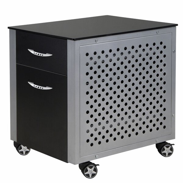 Racing Style 2 Drawer Cabinet by PitStop Furniture