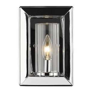 Read Reviews Thorne Modern 1-Light Glass Shade Wall Sconce By Three Posts