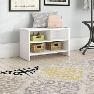 Armand Wood Storage Bench by Andover Mills SKU:CD674276 Guide