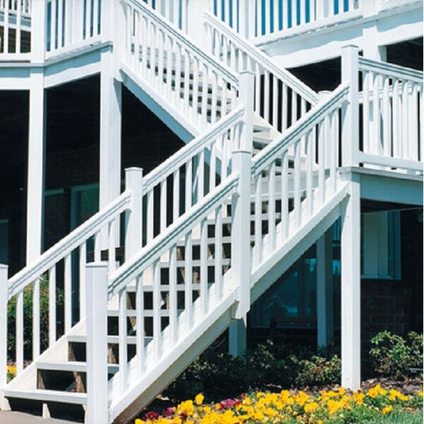 Heavy Duty Sefton Railing by Vinyl Fence Wholesaler