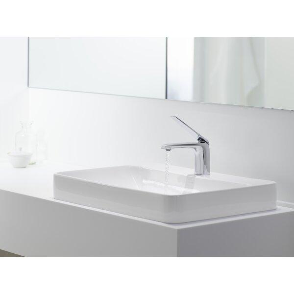 Vox Rectangular Vessel Bathroom Sink with Overflow by Kohler
