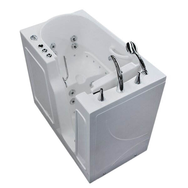 Prairie 45.7 x 26 Whirlpool & Air Jetted Bathtub by Therapeutic Tubs