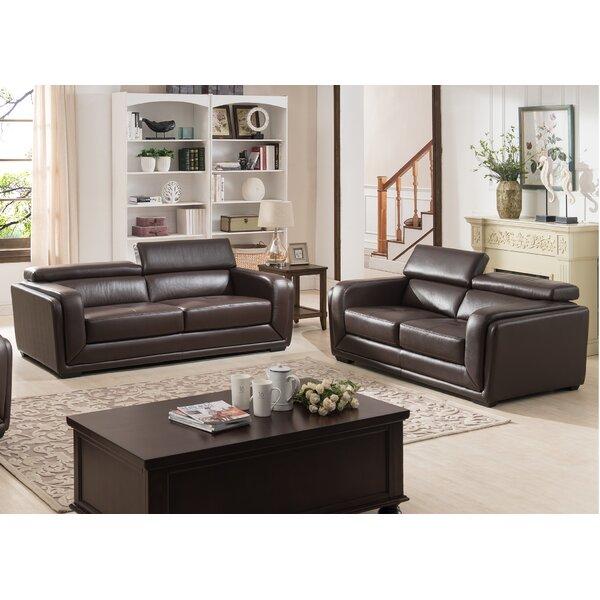 Grayone 2 Piece Leather Living Room Set by Brayden Studio