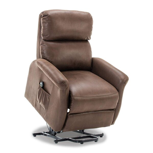Winbush Classic Lift Power Recliner Soft and Warm Fabric with Remote Control for Gentle Motor [Latitude Run]
