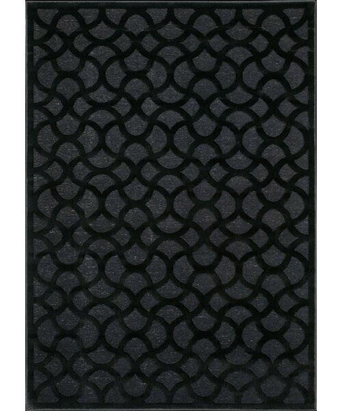 Blondelle Abstract Black Area Rug by Willa Arlo Interiors