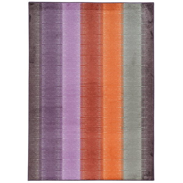 Prismatic Geometric Purple/Orange Area Rug by Pantone Universe