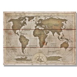 World map cork board wayfair old world map graphic art on wood gumiabroncs Image collections