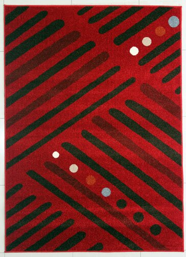Red/Brown Area Rug by Rug Tycoon