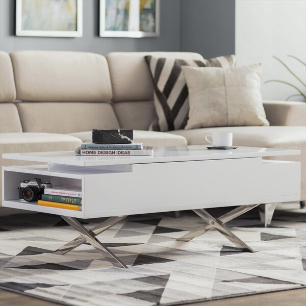 Seraphina Lift Top Coffee Table with Storage by Wade Logan Wade Logan