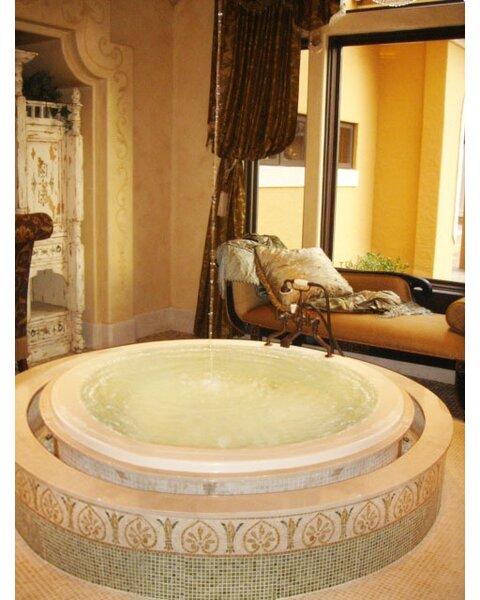 Designer Redondo 69 x 69 Whirlpool Bathtub by Hydro Systems